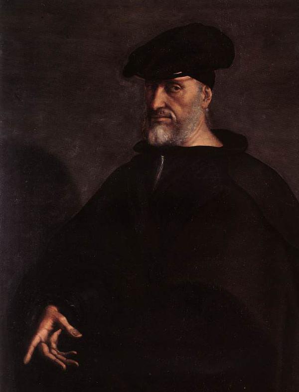 Andreas Doria, Portrait von Sebastiano Del Piombo, um 1526. Schiller strickt um die historische Verschwörung um den Dogen von Genua eine dreifache Verschwörung, eine Geschichte zwischen Tyrannei und bürgerlicher Befreiung.