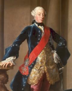 Herzog Carl Eugen von Württemberg, Gemälde von Pompeo Batoni, 1753 - Württembergische Landesbibliothek, Stuttgart