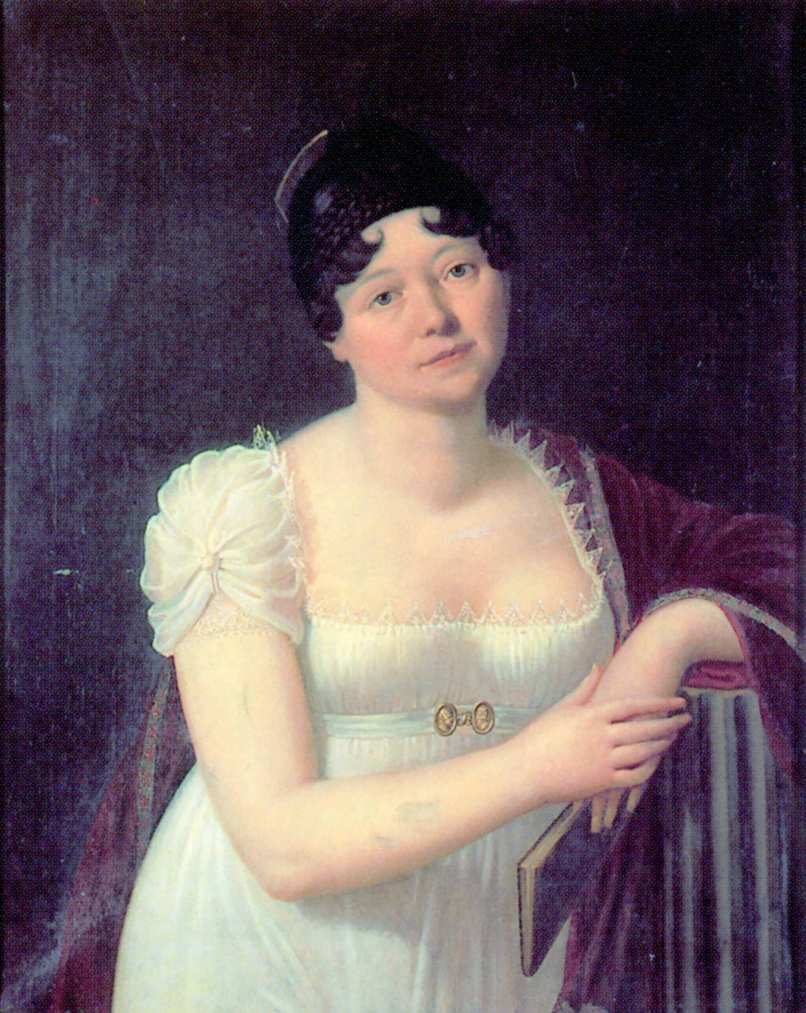 Caroline von Wolzogen, Gemälde von Carl von Ambère, 1808