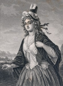 Charlotte von Schiller, geb. von Lengefeld, Stahlstich von Andreas Fleischmann nach einer Zeichnung von Friedrich Pecht, um 1859