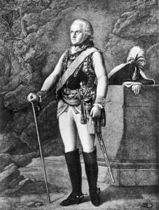 Herzog Carl August von Sachsen-Weimar-Eisenach um 1790, Stich, Müller nach dem Gemälde von Georg Melchior Kraus