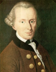 Immanuel Kant, deutscher Philosoph, Schiller hatte sich sehr mit seiner Philosophie auseinandergesetzt