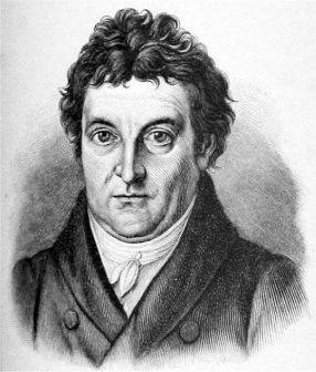 Johann Gottlieb Fichte, deutscher Philosoph, war einer der wichtigsten Vertreter des deutschen Idealismus; Lithografie von Jungel nach einem Gemaälde von Heinrich Anton Dähling