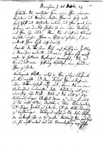 Seite 1 des Briefes von Friedrich von Schiller an Johann Wilhelm Ludwig Gleim, Mannheim 26.11.1784, Bild: Gleimhaus Halberstadt