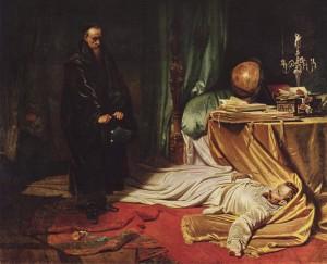 Seni an der Leiche Wallensteins, Gemälde Carl Theodor von Piloty, 1855