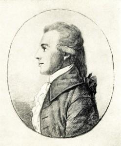 Gottfried Körner, Silberstiftzeichnung, 1784