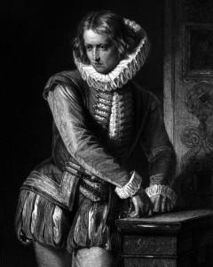 Don Carlos, Charakter aus dem Schiller-Drama Don Carlos, Zeichnung von Arthur von Ramberg, 1859