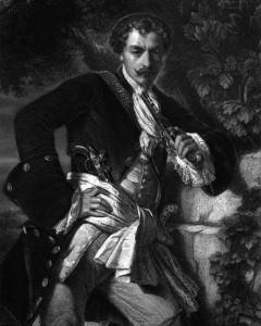 Karl Moor, Charakter aus dem Schiller-Drama Die Räuber, Zeichnung von Friedrich Pecht, 1859