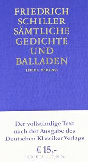 Buchcover Sämtliche Gedichte und Balladen von Friedrich Schiller