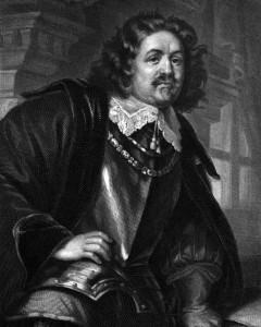 Octavio Piccolomini, Charakter aus der Wallenstein-Trilogie, Zeichnung von Friedrich Pecht
