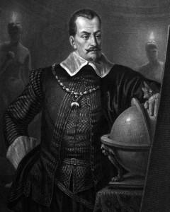 Wallenstein, Charakter aus der Schiller-Dramen-Trilogie Wallenstein, Zeichnung von Friedrich Pecht