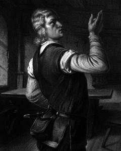 Arnold vom Melchthal, Charakter aus dem Schiller-Drama Wilhelm Tell, Zeichnung von Friedrich Pecht