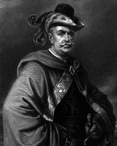 Gessler, Charakter aus dem Schiller-Drama Wilhelm Tell, Zeichnung von Friedrich Pecht