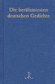 Cover von Die berühmtesten deutschen Gedichte aus 200 Gedichtsammlungen