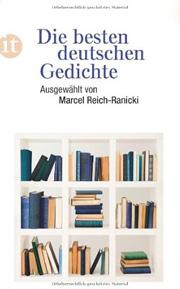 Coverbild von Die besten deutschen Gedichte ausgewählt von Marcel Reich-Ranicki