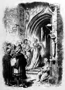 Das Lied von der Glocke: Die Glocke läutet zur Taufe des Neugeborenen.
