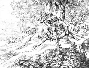 """Friedrich Schiller """"Die Räuber"""", 3. Akt 2. Szene: Nach dem Sieg kehrt Alltag in das Räuberlager, während Karls Missmut wächst."""