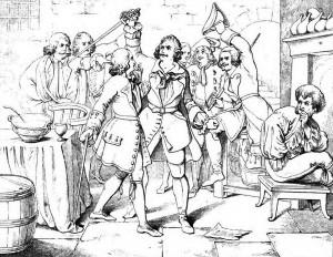 """Friedrich Schiller """"Die Räuber"""", 1. Akt 2. Szene: Karl Moor wird Hauptmann der Räuberbande."""